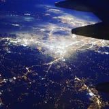 Birdview of Nashville. It was taken during a flight to Dallas Stock Photos