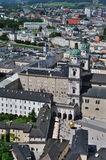 Birdview of Salzburg, Austria. Salzburg is the fourth-largest city in Austria and the capital of the federal state of Salzburg. Salzburg's Old Town (Altstadt) Royalty Free Stock Images