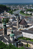 Birdview of Salzburg, Austria. Salzburg is the fourth-largest city in Austria and the capital of the federal state of Salzburg. Salzburg's Old Town (Altstadt) Stock Images