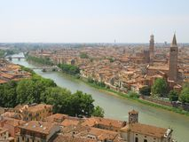 Birdview van Verona, Italië Royalty-vrije Stock Fotografie
