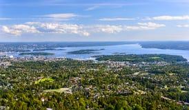 Birdview von Oslo stockfotos