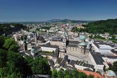 Birdview von Salzburg, Österreich Lizenzfreies Stockfoto