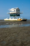Birdwatch cabin, Wadden Sea Stock Image