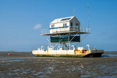 Birdwatch cabin, Wadden Sea Royalty Free Stock Image