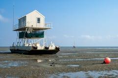 Birdwatch a cabine, mar de Wadden Foto de Stock