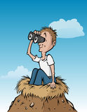 Birdwatchernest royalty-vrije illustratie