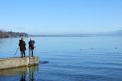 birdwatchers οριζόντια Στοκ φωτογραφία με δικαίωμα ελεύθερης χρήσης