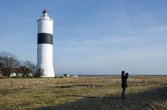 Birdwatching на маяке Ottenby Стоковое фото RF