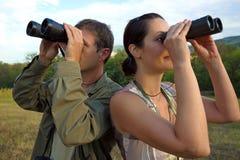 Birdwatching Royaltyfria Bilder