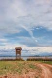 Birdwatching Kontrollturm stockfotos