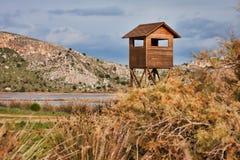 Birdwatching Kontrollturm lizenzfreie stockfotos