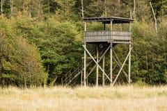 Birdwatching tower Stock Photo