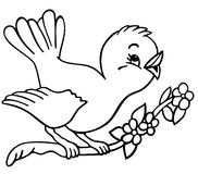 Birdy - esboçado Imagens de Stock Royalty Free