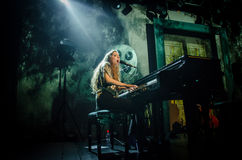 Birdy (singer) playing the piano Stock Photography