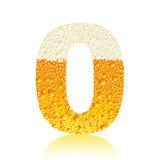 Bière 0 d'alphabet Photographie stock
