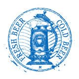 Bière, calibre de conception de logo de vecteur de bière anglaise minable Image libre de droits