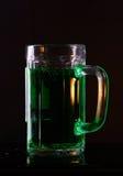 Bière verte irlandaise Image libre de droits