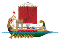 Bireme stock illustration