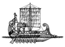 Bireme Royalty Free Stock Photography
