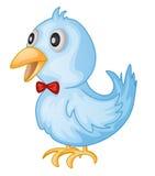 Birfy. Illustration of a blue bird Royalty Free Stock Photos