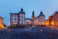 Birger Jarls Square in Riddarholmen in the Morning. Stockholm, Sweden Royalty Free Stock Photography