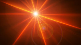 Birght glowing star. Birght glowing red star with rays Stock Photo