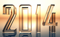 Bright Year 2014. Glass logo with elegant typography and vivid background. Highest resolution possible Stock Photography