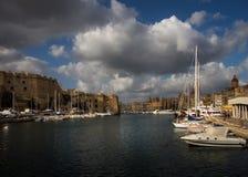 Birgu Kalkara Bormla Πρόσδεση βαρκών valletta Μάλτα στοκ φωτογραφία με δικαίωμα ελεύθερης χρήσης