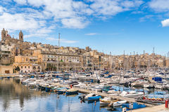 Birgu waterfront Stock Image