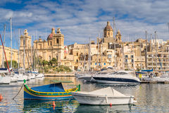 Birgu waterfront Royalty Free Stock Image