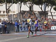 Birhanu, Dominic, Beyu koniec 22 Rzym maraton Obraz Stock