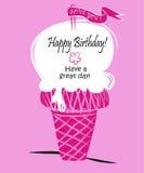 Birhtday heureux de crème glacée/ont un jour splendide Photo stock