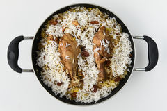 biriyani de poulet Photo stock