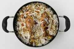 biriyani de poulet Photos stock