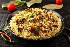 Biriyani del montone da cucina indiana autentica fotografia stock libera da diritti