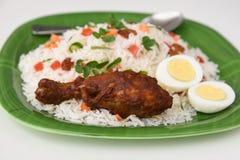 biriyani del pollo Fotografía de archivo