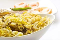 Biriyani delicioso del pollo foto de archivo libre de regalías