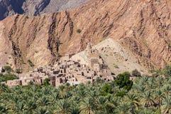 Birkat-Al-Mouz abandonado da vila - Omã foto de stock royalty free