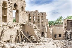 Birkat al mud ruins. Image of ruins in Birkat al mud in Oman Royalty Free Stock Photos