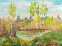 Birken naer Teich