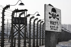 Birkenau纳粹集中营-波兰 库存图片