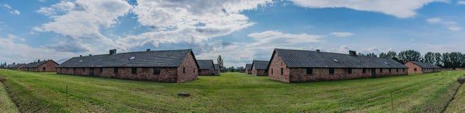 Birkenau acuartela panorama Foto de archivo