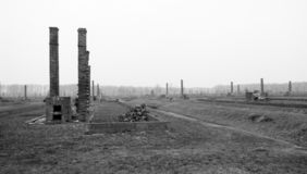 Birkenau auschvitz holocaust. Concentration camp Stock Photo