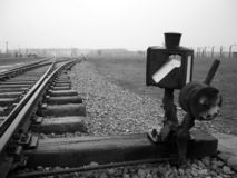 Birkenau auschvitz holocaust5 royalty-vrije stock afbeelding