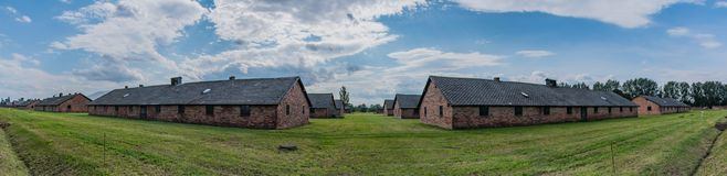 Birkenau Barracks Panorama Stock Photo