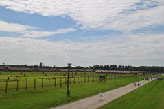 Birkenau / Brezinka, big concentration camp in Poland. Area of Birkenau - Big german nazi concentration camps since II. World War near Osvietim in Brezinka royalty free stock photos