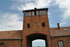 Birkenau / Brezinka, big concentration camp in Poland. Area of Birkenau - Big german nazi concentration camps since II. World War near Osvietim in Brezinka stock images