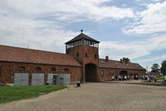 Birkenau / Brezinka, big concentration camp in Poland. Area of Birkenau - Big german nazi concentration camps since II. World War near Osvietim in Brezinka royalty free stock image