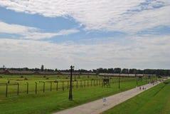 Birkenau, Brezinka/, duży koncentracyjny obóz w Polska Zdjęcia Royalty Free