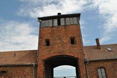Birkenau, Brezinka/, duży koncentracyjny obóz w Polska Obrazy Stock